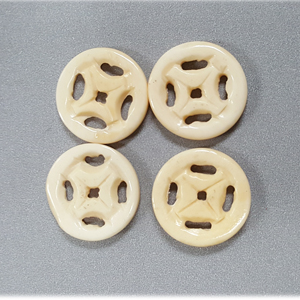 BONE CIRCLE 25MM IVORY (4PCS/BAG)