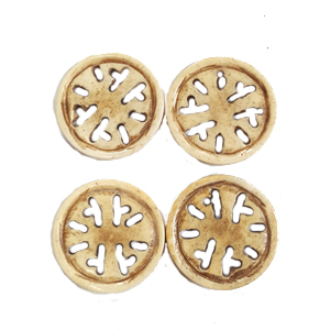 BONE CIRCLE 28MM ANTIQUE(4PCS/BAG)