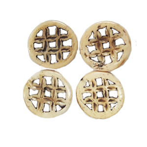 BONE CIRCLE 25MM ANTIQUE (4PCS/BAG)