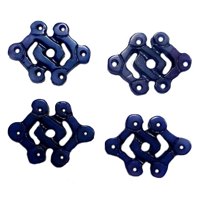 JADE SMALL PENDANT DIAMOND KNOT 20X30MM BLUE(4 PCS)